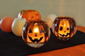キャンドルグラスでハロウィンのかぼちゃをDIY