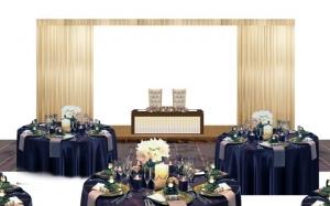 【1】あるホテルの宴会場を結婚披露宴会場にする場合の作画作業の途中